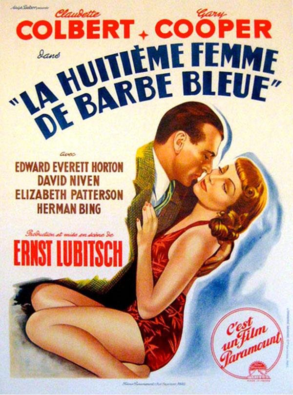 affiche du film La Huitième femme de Barbe Bleue (Bluebeard's Eighth Wife)