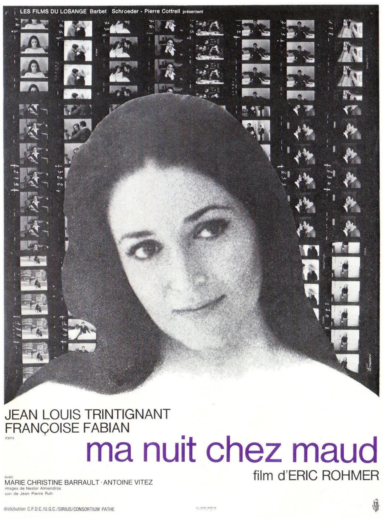 affiche du film Ma nuit chez Maud