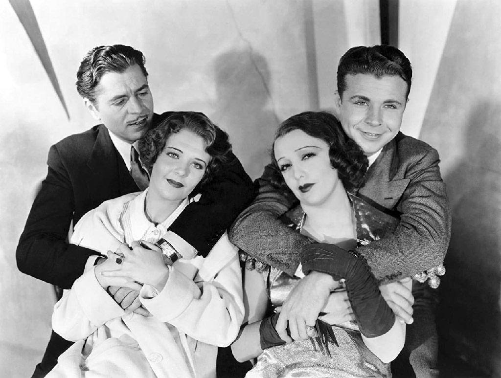 Warner Baxter, Bebe Daniels, Ruby Keeler, Dick Powell dans 42ème rue