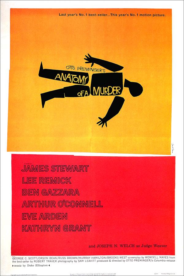 affiche du film Autopsie d'un meurtre (Anatomy of a Murder)