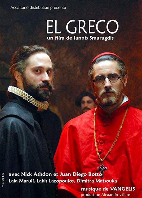 affiche du film El Greco, les ténèbres contre la lumière