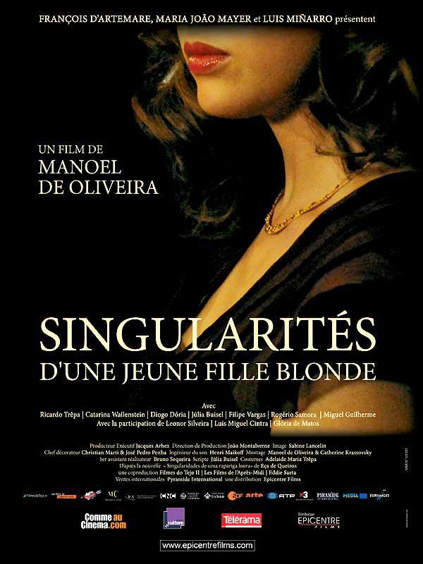 affiche du film Singularités d'une jeune fille blonde