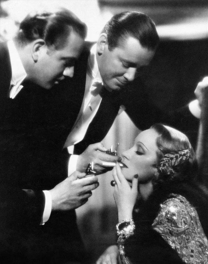Marlene Dietrich, Herbert Marshall, Melvyn Douglas dans Ange