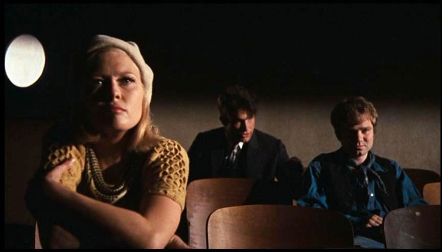 Faye Dunaway, Warren Beatty, Michael J. Pollard dans Bonnie & Clyde