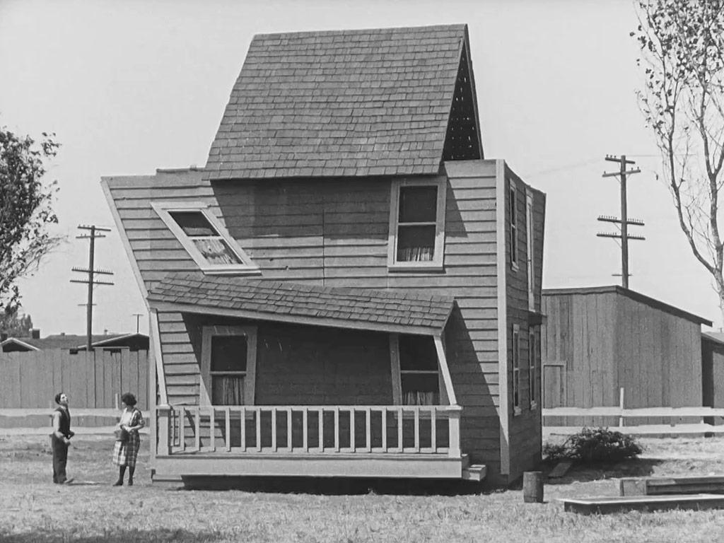 Buster Keaton, Sybil Seely dans La maison démontable