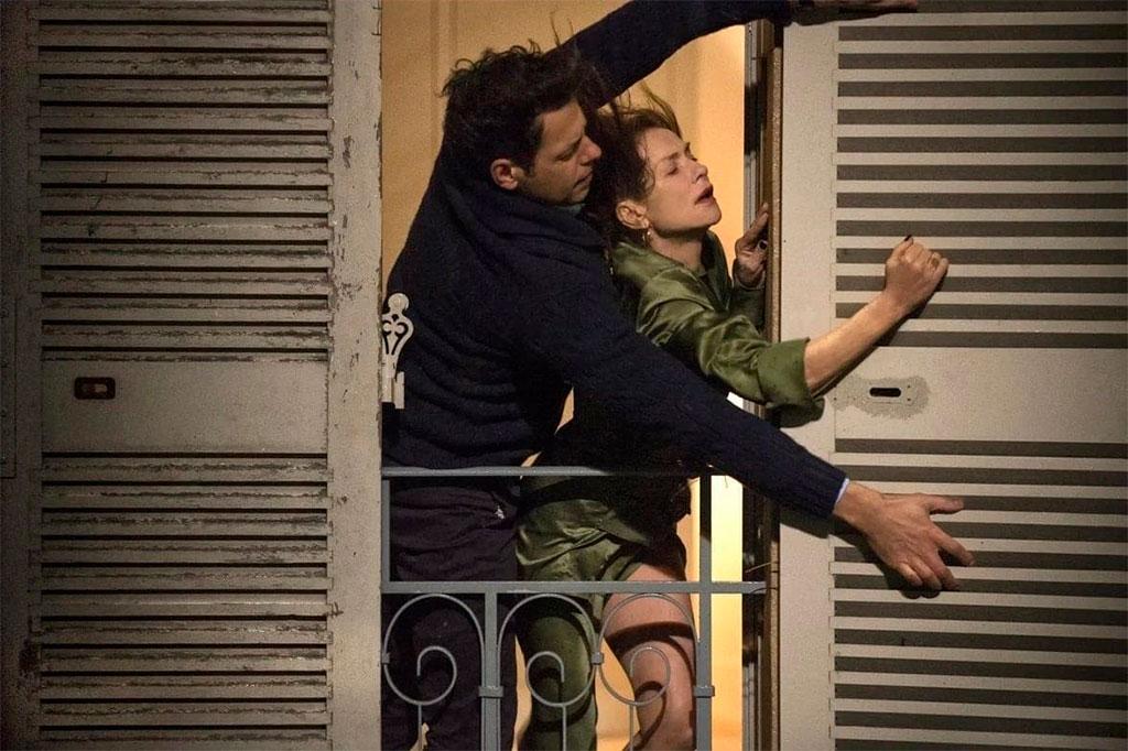 Isabelle Huppert, Laurent Lafitte dans Elle