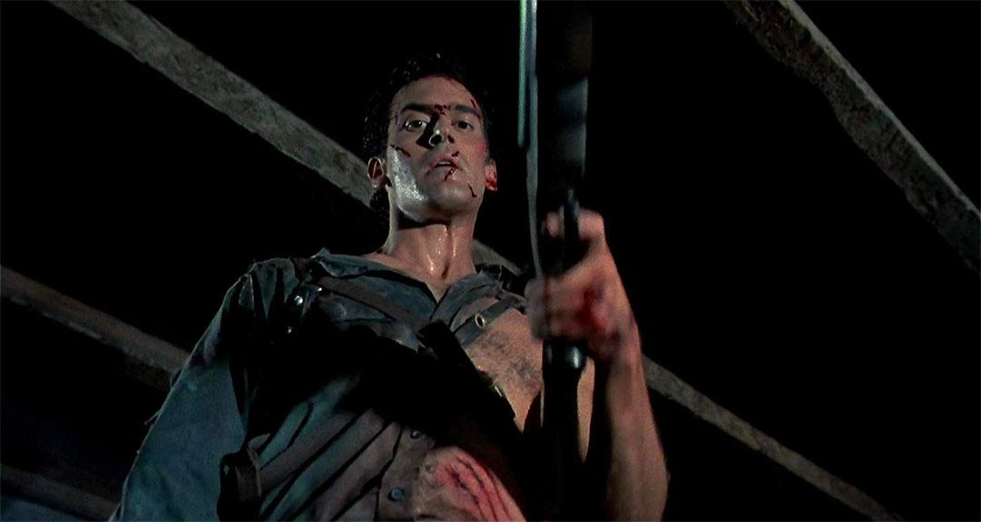 Bruce Campbell dans Evil Dead 2