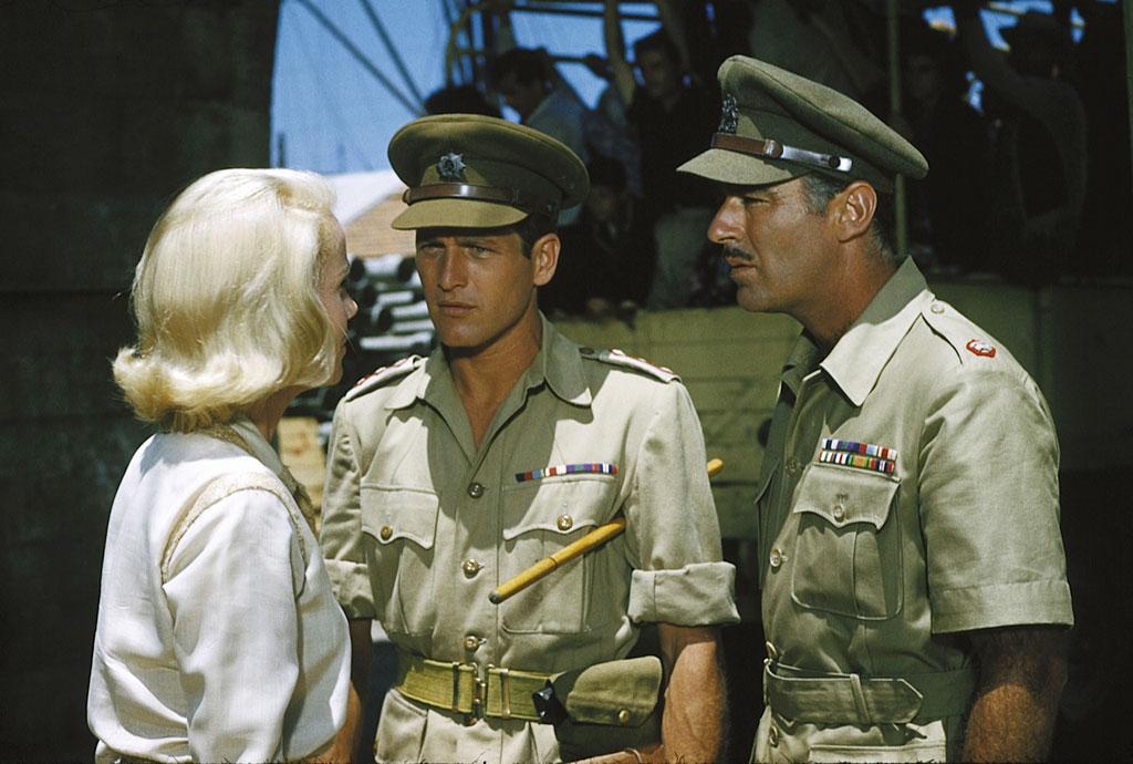 Eva Marie-Saint, Paul Newman, Peter Lawford dans Exodus