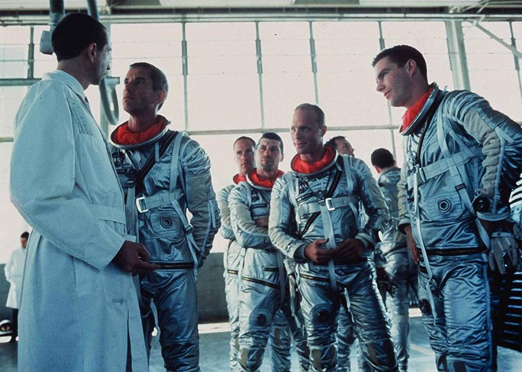 Ed Harris, Lance Henriksen, Dennis Quaid, Scott Glenn, Charles Frank, Scott Paulin, Fred Ward dans L'Etoffe des héros