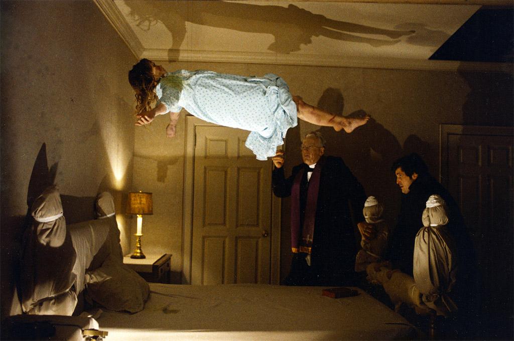 Max von Sydow, Jason Miller, Linda Blair dans L'Exorciste