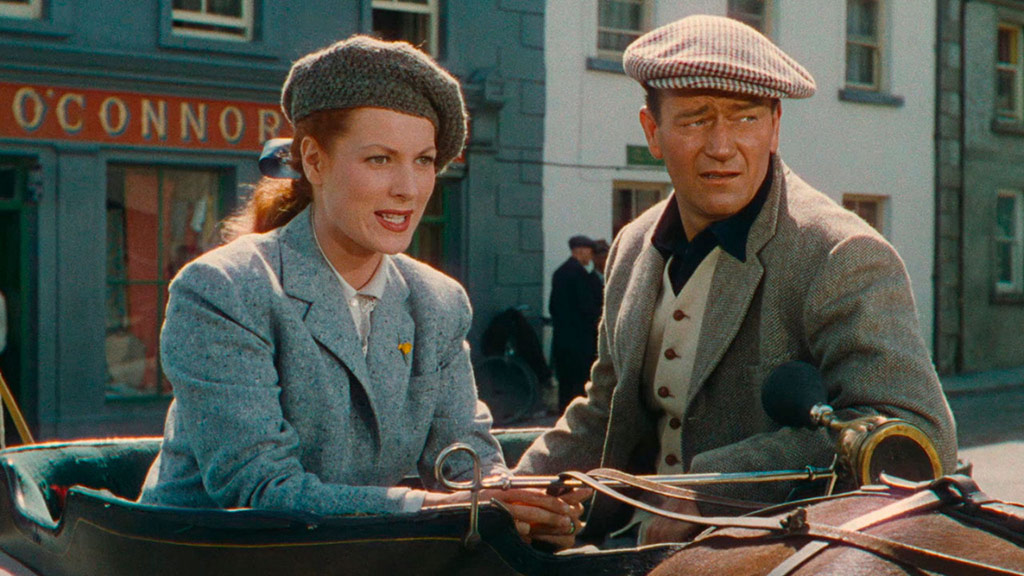 John Wayne, Maureen O'Hara dans L'Homme tranquille