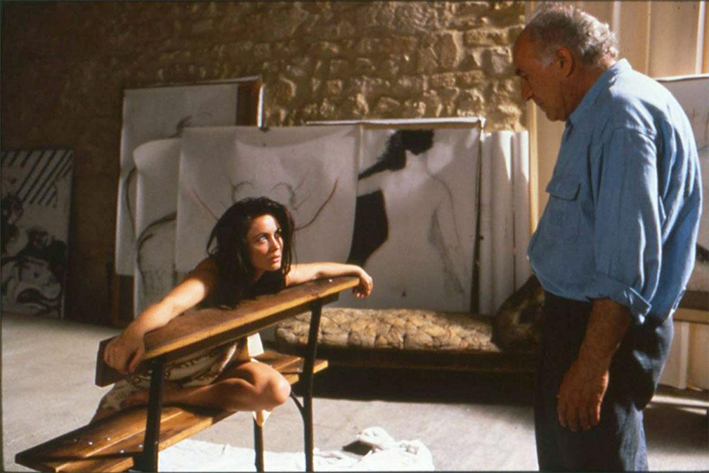 Michel Piccoli, Emmanuelle Béart dans La Belle Noiseuse