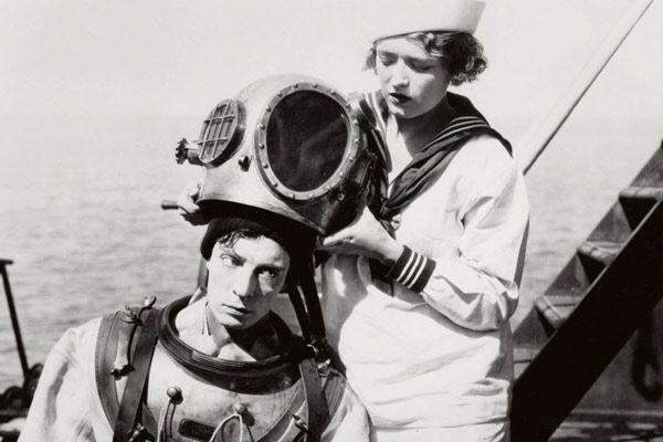 Buster Keaton, Kathryn McGuire dans La Croisière du Navigator