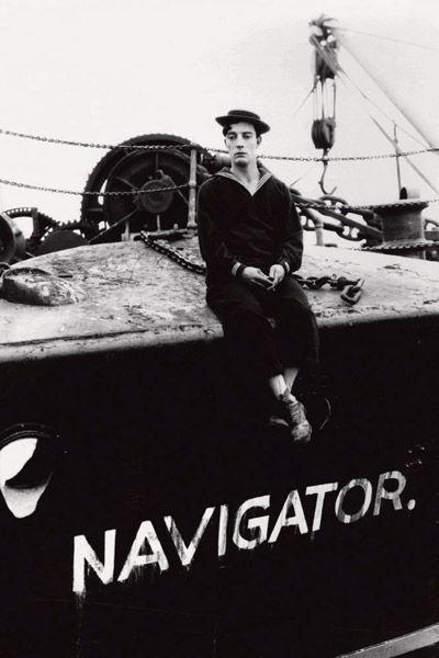 Buster Keaton dans La Croisière du Navigator
