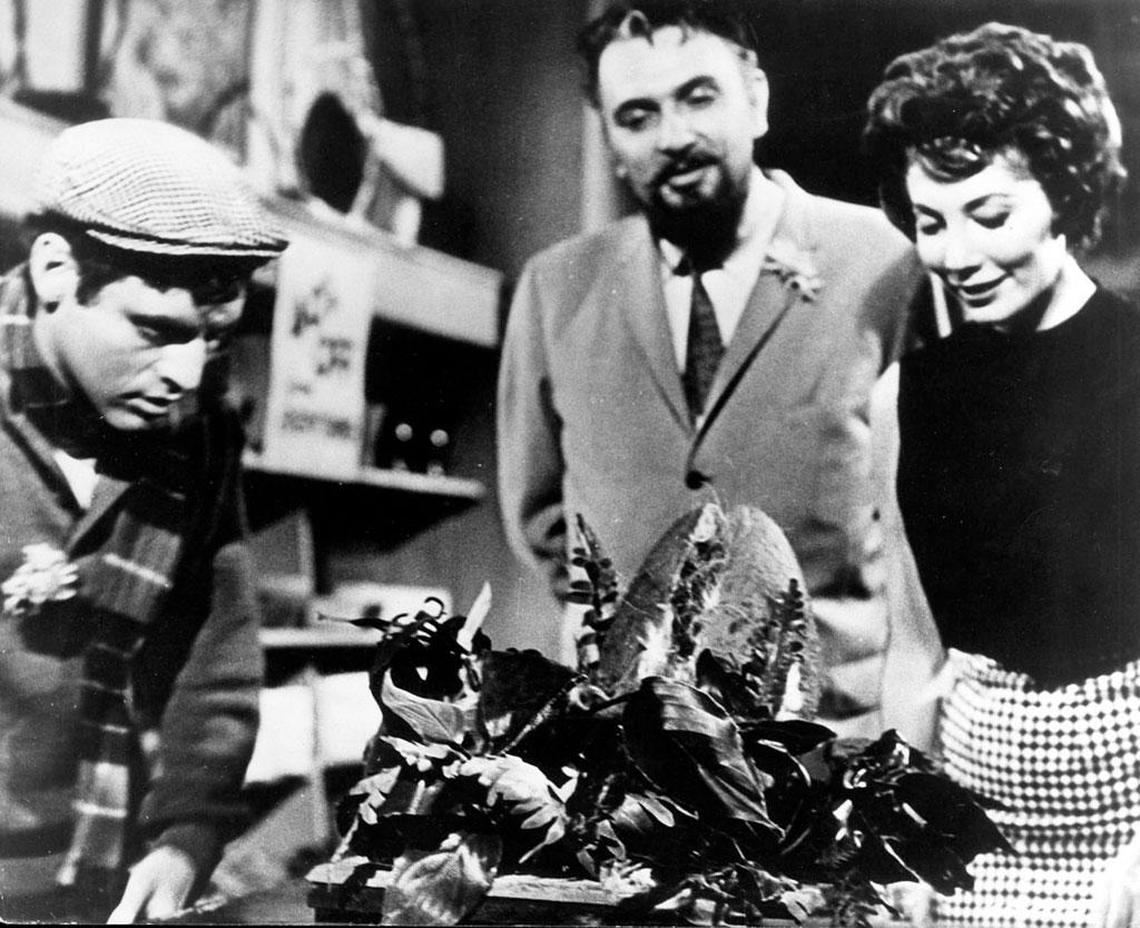 Jonathan Haze, Jackie Joseph, Mel Welles dans La Petite boutique des horreurs