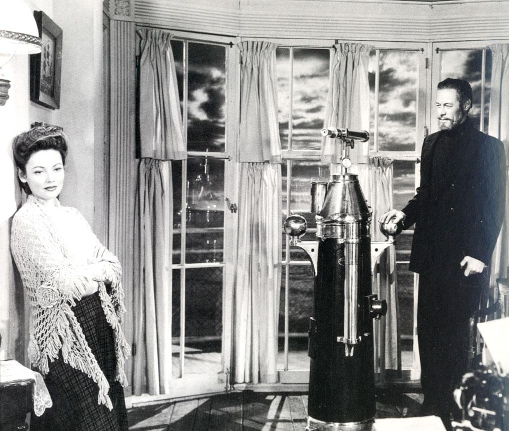 Gene Tierney, Rex Harrison dans L'Aventure de Mme Muir