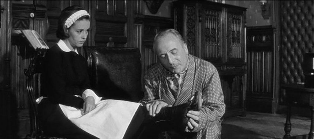 Jeanne Moreau, Jean Ozenne dans Le Journal d'une femme de chambre