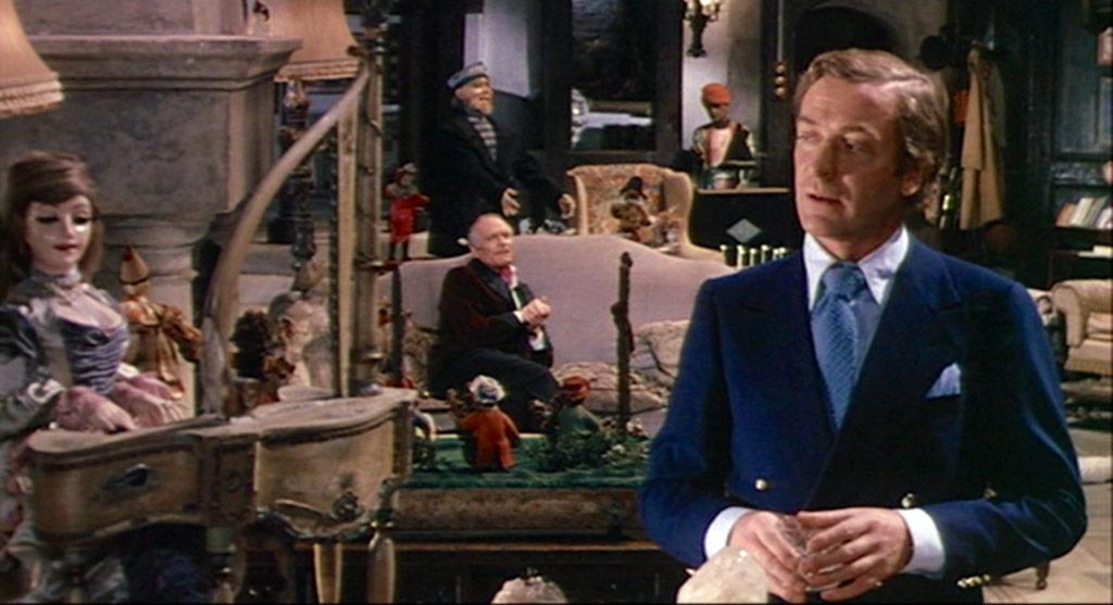 Laurence Olivier, Michael Caine dans Le Limier