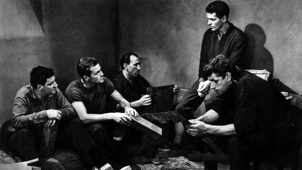 Michel Constantin, Philippe Leroy, Jean Keraudy, Raymond Meunier, Marc Michel dans Le Trou