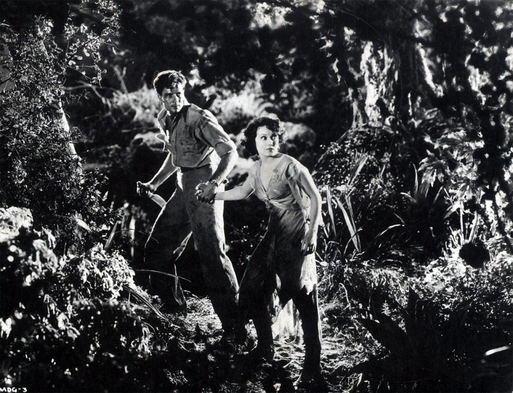 Joel McCrea, Fay Wray dans Les Chasses du comte Zaroff