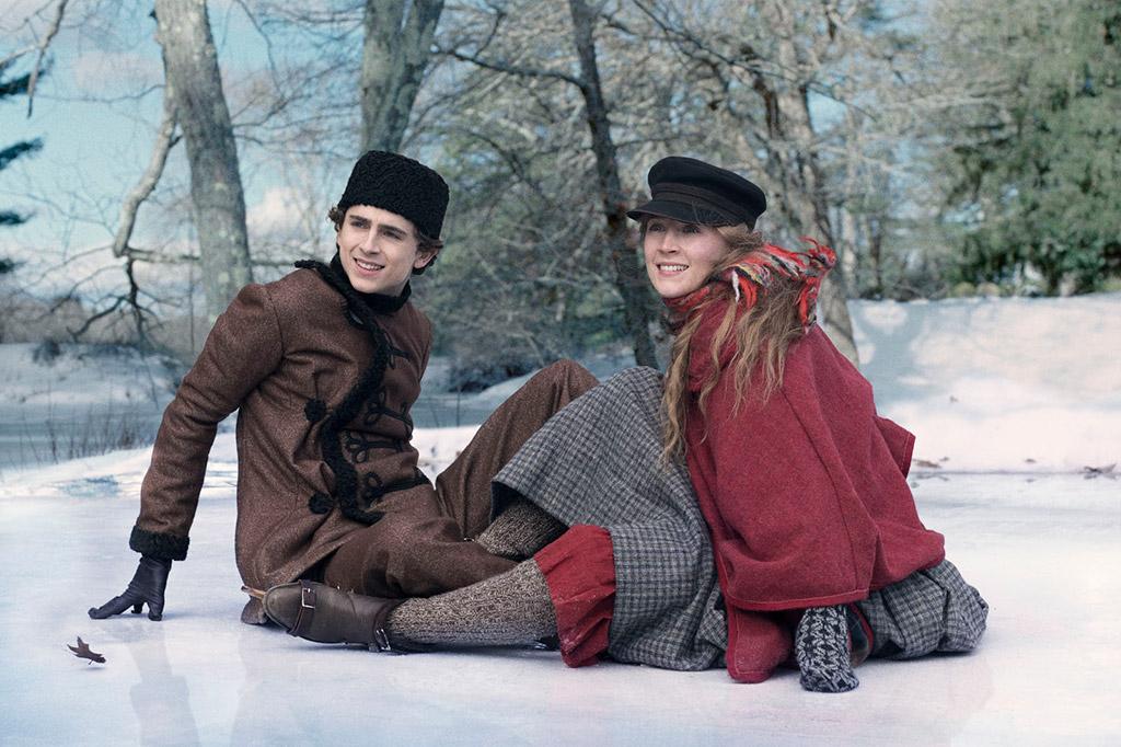 Saoirse Ronan, Timothée Chalamet dans Les Filles du Docteur March
