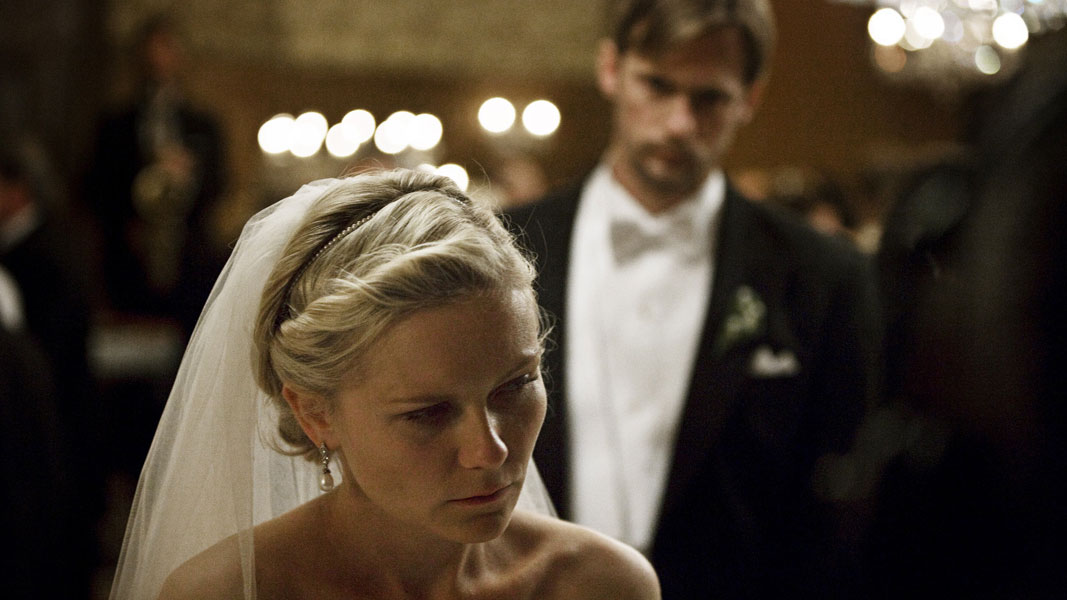 Kirsten Dunst dans Melancholia