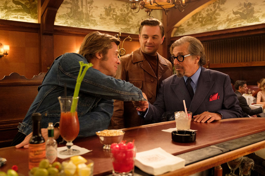 Leonardo DiCaprio, Brad Pitt, Al Pacino dans Once upon a time… In Hollywood