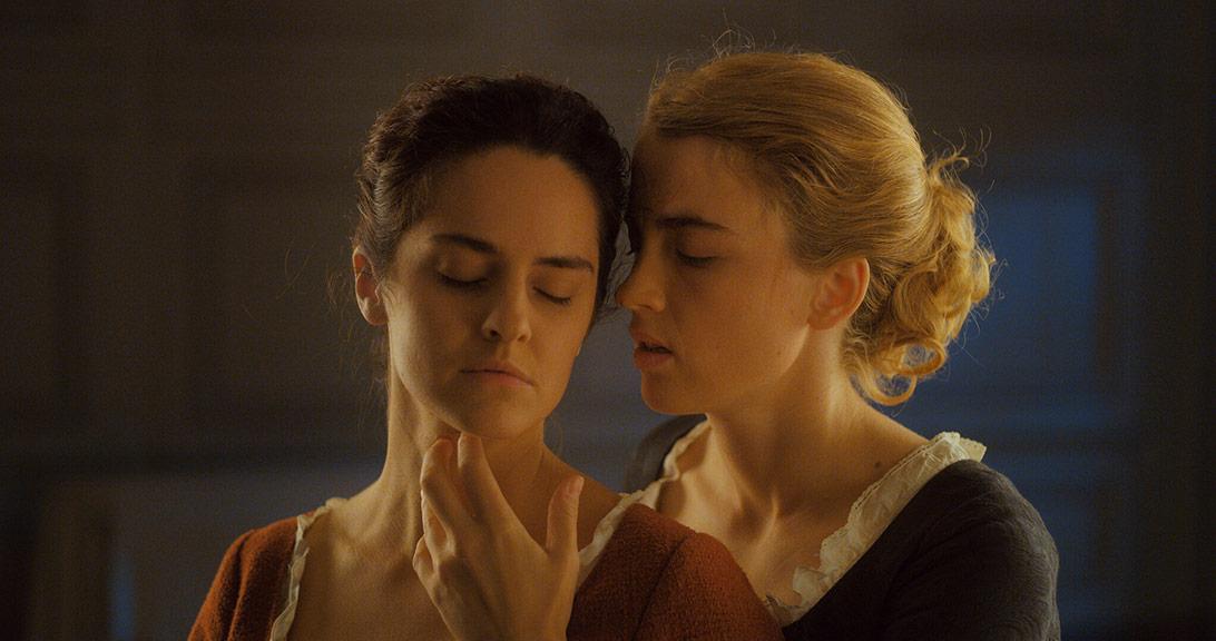 Adèle Haenel, Noémie Merlant dans Portrait de la jeune fille en feu