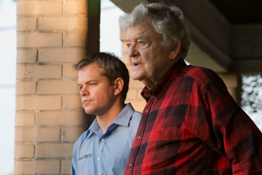 Matt Damon, Hal Holbrook dans Promised Land