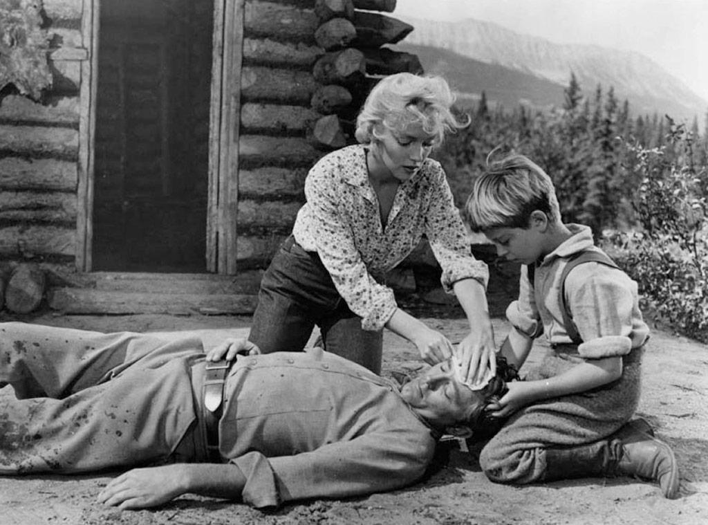 Marilyn Monroe et Robert Mitchum dans Rivière sans retour