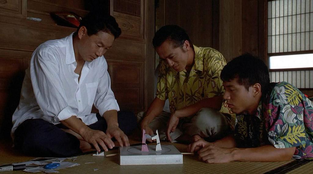 Takeshi Kitano, Masanobu Katsumura, Susumu Terajima dans Sonatine