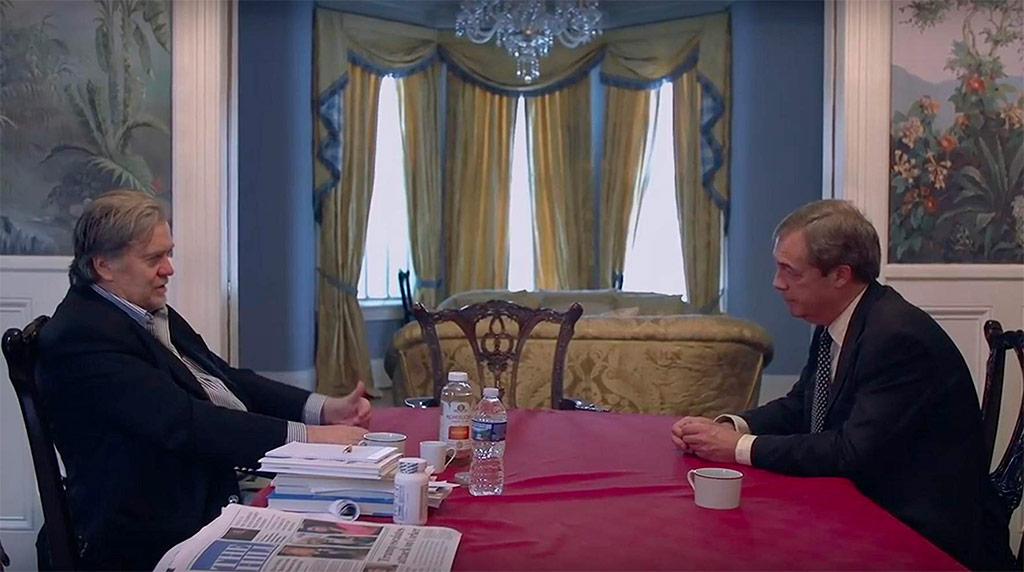 Steve Bannon, Nigel Farage dans Steve Bannon - le grand manipulateur