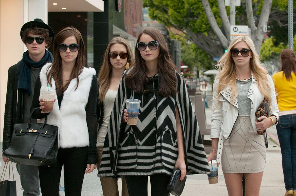Claire Julien, Emma Watson, Israel Broussard, Katie Chang, Taissa Farmiga dans The Bling ring