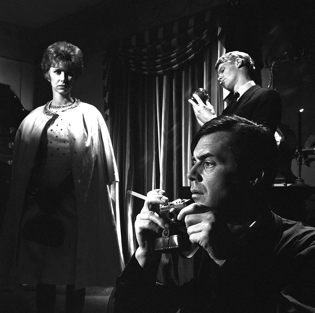 Dirk Bogarde, Wendy Craig, James Fox dans The Servant