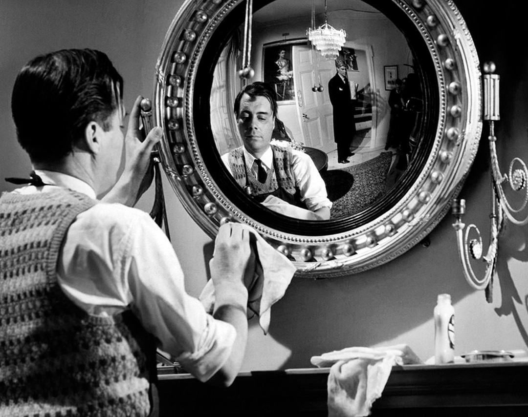 Dirk Bogarde, James Fox dans The Servant