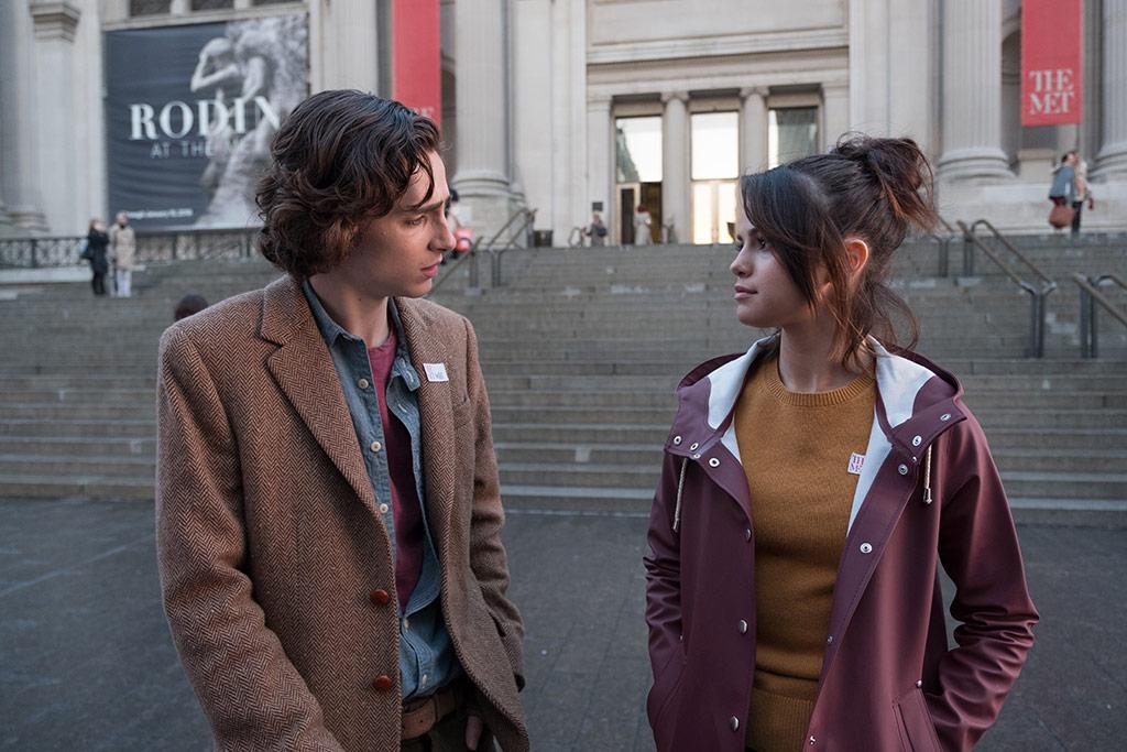 Timothée Chalamet, Selena Gomez dans Un Jour de pluie à New York