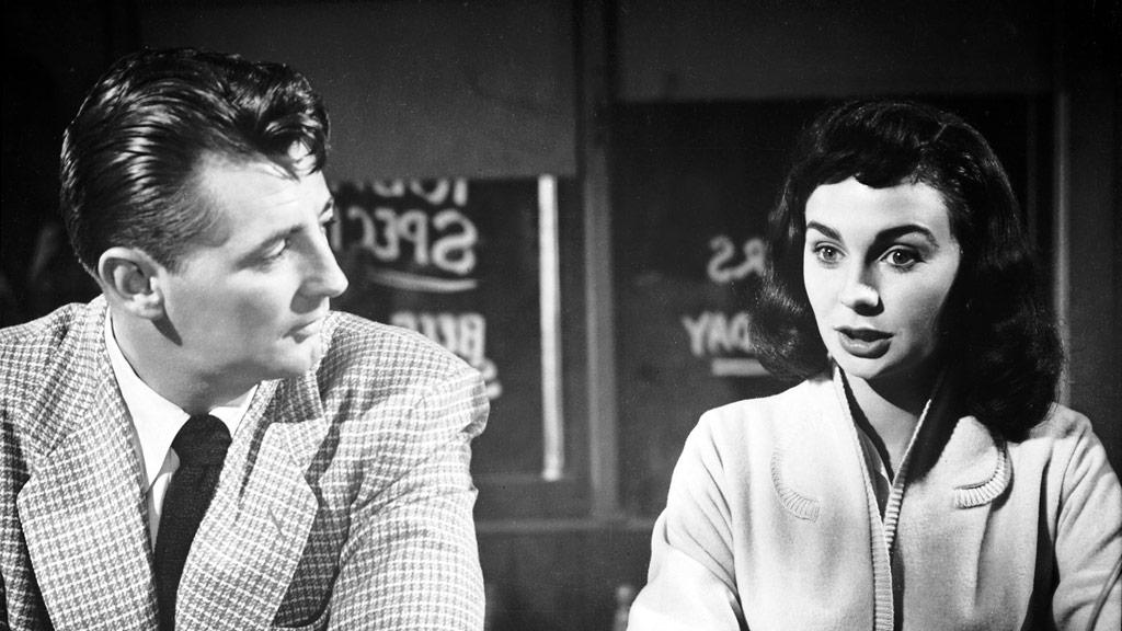 Robert Mitchum, Jean Simmons dans Un si doux visage