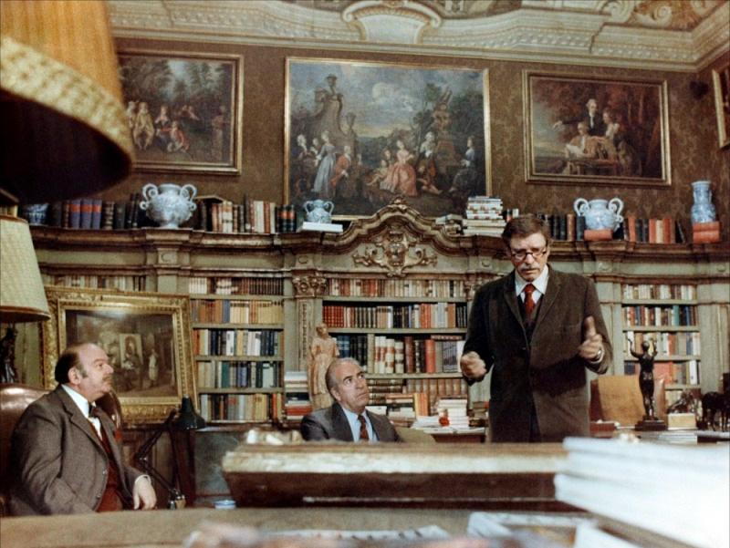 Burt Lancaster, Guy Tréjan, Jean-Pierre Zola dans Violence et passion